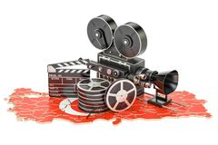Turkish cinematography, film industry concept. 3D rendering. Isolated on white background Stock Photos