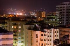 Turkish city at night Royalty Free Stock Image