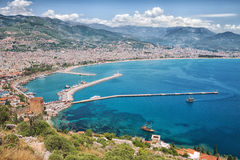 Turkish city and port of Alanya Stock Photo
