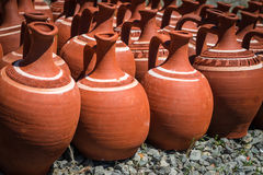 Turkish clay pots Stock Images