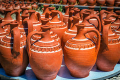 Turkish clay pots Royalty Free Stock Photography