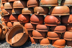 Turkish clay pots Stock Photos
