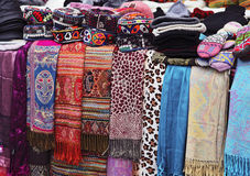 Turkish clothing market Royalty Free Stock Image