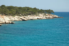 Turkish Coast. Along Mediterranean Sea Royalty Free Stock Photos