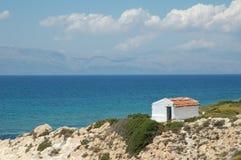 Turkish coast house. Stone house on Turkish coast in Ciftlik, Turkey Stock Images