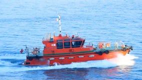 Turkish coastguard boat. Turkish coastguard cuts through the Black Sea strait stock footage
