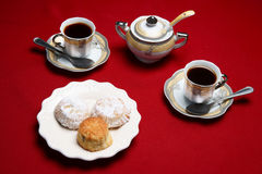 Turkish coffe and desserts Royalty Free Stock Photo
