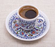 Turkish coffee. A cup of turkish coffee Royalty Free Stock Photography