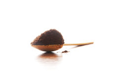 Turkish coffee. Turkish ground coffee on the spoon Royalty Free Stock Images