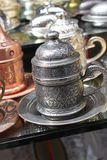 Turkish coffee. Set at market stall Stock Images