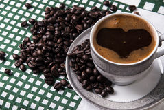 Turkish coffee. Close up photo Stock Images