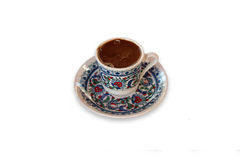 Turkish coffee. A cup of a turkish coffee royalty free stock photos