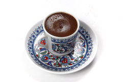 Turkish coffee. Isolated at white Royalty Free Stock Image