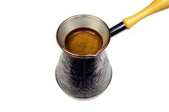Turkish coffee brewing pot Stock Image