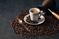 Turkish coffee in a ceramic mug Stock Photography