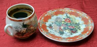 Turkish coffee in a chinesse pot Royalty Free Stock Photography