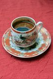 Turkish coffee in a chinesse pot Stock Photos
