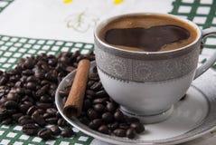 Turkish coffee and cinamon. Close up photo Royalty Free Stock Photo