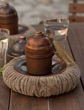 Turkish coffee container Royalty Free Stock Photos