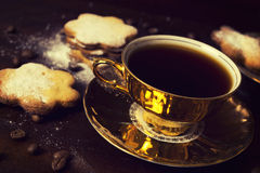 Turkish coffee and cookies Stock Photography
