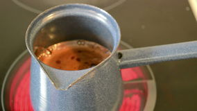 Turkish coffee cooking stock footage