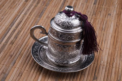 Turkish coffee cup. Inside delicious turkish coffee Royalty Free Stock Photos