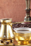 Turkish coffee in the cup Stock Photo