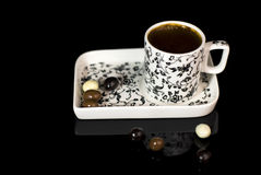 Turkish coffee in cup Stock Image