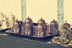 Turkish coffee cup set Stock Images