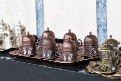Turkish coffee cup set Royalty Free Stock Photo