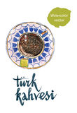 Turkish coffee and delight Royalty Free Stock Photo