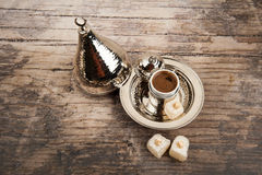 Turkish coffee and delights Stock Photo