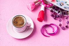 Turkish coffee with feminine concept Stock Photos