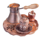 Turkish coffee isolated Stock Images