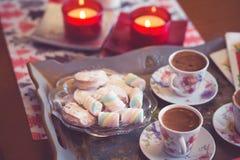 Turkish coffee and marshmallow Stock Photo