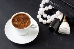 Turkish coffee with masculine style Royalty Free Stock Photos
