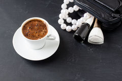 Turkish coffee with masculine style Royalty Free Stock Images