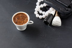 Turkish coffee with masculine style Stock Photography