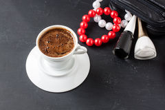Turkish coffee with masculine style Stock Images