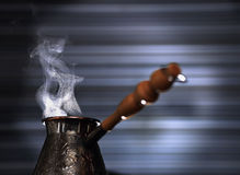 Turkish coffee pot Stock Images