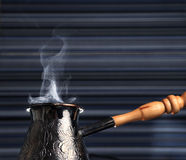 Turkish coffee pot Stock Photos