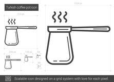 Turkish coffee pot line icon. Royalty Free Stock Image