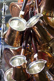Turkish coffee pots Stock Images