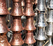 Turkish coffee pots Royalty Free Stock Photos