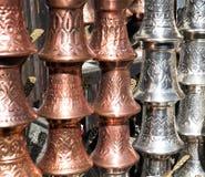 Turkish coffee pots Royalty Free Stock Photos