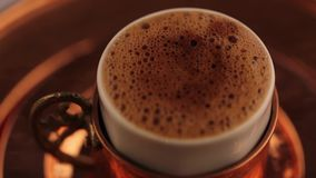 Turkish Coffee Pouring stock video