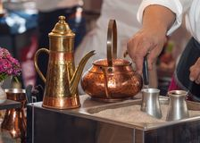 Turkish coffee preparation Stock Image