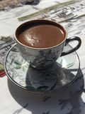 Turkish coffee. With it's cup Royalty Free Stock Images