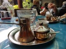 Turkish coffee in Sarajevo Stock Image