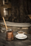 Turkish coffee serve Royalty Free Stock Images